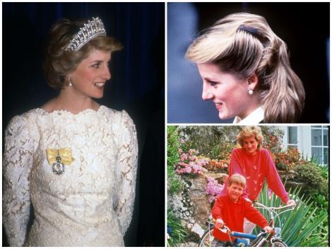 Colaj cu Prințesa Diana și fiul său cel mare, Prințul William