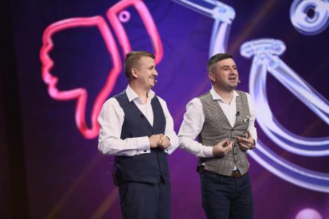 Hari Gromosteanu și Mihai Costea, îmbrăcați elegant în semifinala iUmor