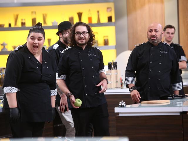 """Florin Dumitrescu și Cătălin Scărlătescu în ediția 41 din sezonul 8 """"Chefi la cuțite"""""""