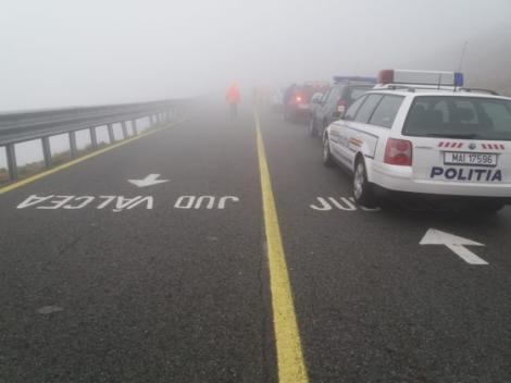 Circulație îngreunată spre autostrada A4, din cauza unui TIR rămas blocat