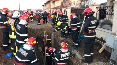 Ilfov: Un muncitor care lucra la organizarea unui şantier a fost surprins de un mal de pământ
