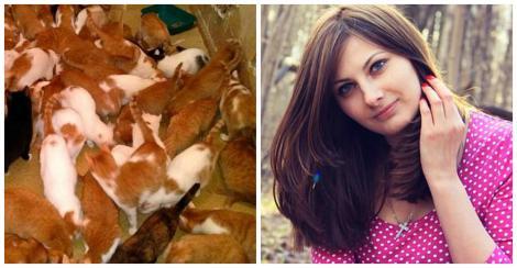 """A divorțat și și-a găsit dragostea în rândul felinelor. Ea e tânăra care a trăit cu 130 de pisici într-o garsonieră: """"Își cheltuia toți banii pentru a le hrăni, dar nu era de ajuns!"""""""