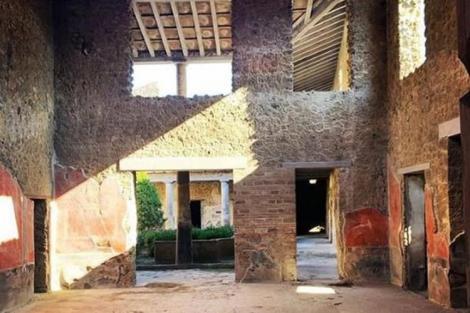 Trei case romane au fost deschise publicului la Pompei