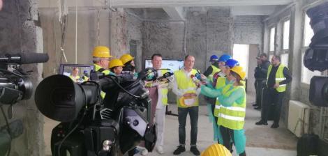 """Unitate pentru mari arşi, în construcţie la Spitalul """"Bagdasar Arseni"""" / Primarul Băluţă se declară convins că va fi funcţională până la sfârşitul anului"""