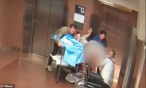 A născut pe holul unui spital, de față cu alți pacienți! Momentul a fost filmat! Video