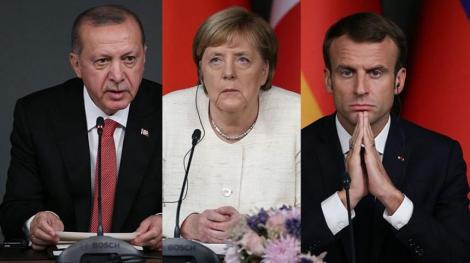 Macron şi Merkel, poate şi Johnson, la Istanbul la 17 martie, pentru a discuta despre migraţie cu Erdogan