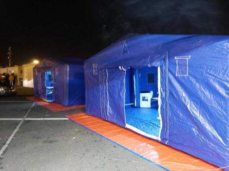 Galaţi: Corturi pentru triaj instalate în curţile spitalelor/ Jandarmii verifică în comunele cu persoane întoarse din Italia pentru a verifica dacă rămân izolate la domiciliu