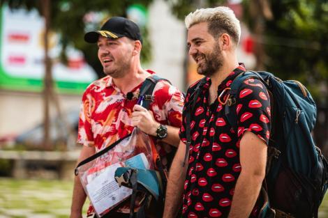 Aseară, când show-ul a fost lider de piață, Alex Abagiu și Radu au câștigat amuleta și imunitatea la Asia Express- Drumul Comorilor