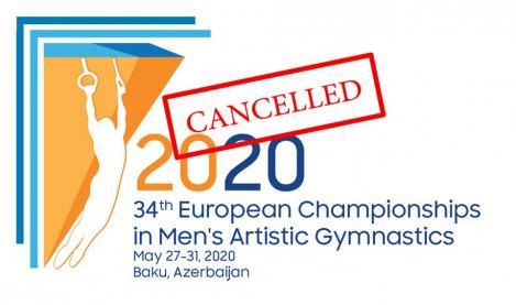 Campionatele Europene de gimnastică, la feminin şi masculin, amânate de UEG