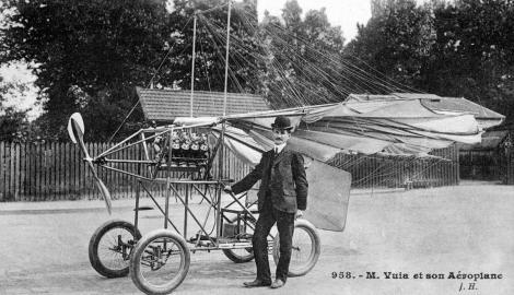 """Avea un singur vis, """"vuia"""" să zboare. Pe 18 martie 1906, Traian Vuia, pionier al aviației mondiale, realizează primul zbor autopropulsat din lume"""