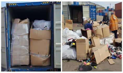 Poliţiştii de frontieră au găsit alte containere cu deşeuri. Două erau în Portul Constanţa, iar şapte au fost descoperite la Chitila