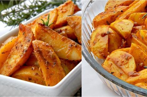 Rețetă de post. Rețetă de cartofi aurii, crocanți și foarte aromatizați