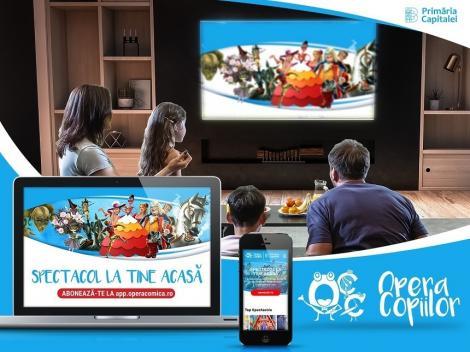 """Opera Comică pentru Copii a lansat aplicaţia """"Opera Copiilor"""" care permite vizionarea soectacolelor online"""