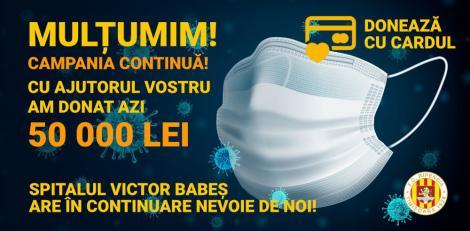 Ripensia Timişoara a donat 50.000 de lei spitalului Victor Babeş