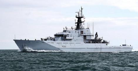 Marina Regală britanică supraveghează şapte nave militare ruseşti de război în largul Marii Britanii