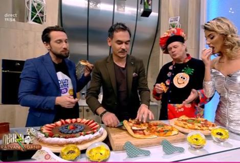 Provocare culinară la Neatza cu Răzvan și Dani. Ramona Olaru și-a provocat colegii de platou să prepare pizza. Oare se descurcă matinalii?
