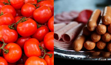 Alimente scumpite: la ce preț au ajuns roșiile, pâinea, salamul, laptele și alte alimente intens cumpărate