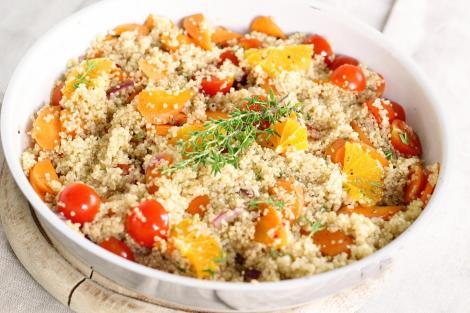 Rețetă de post. Quinoa cu legume și mandarine. Un preparat gustos și sănătos, dar și foarte hrănitor