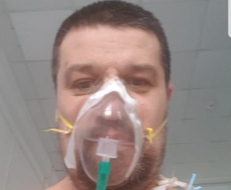 """Alin, pacientul 37, a văzut moartea cu ochii, din cauza coronavirusului: """"Oricine poate ajunge în stare critică! Nu este o glumă!"""""""