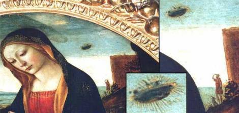 Reprezentări ale OZN-urilor în tablouri religioase. Extratereștrii sau Dumnezeu?