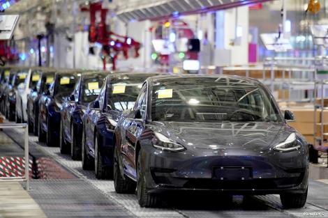 Vânzările Tesla în China au atins un nivel record în luna martie, de 10.160 de vehicule