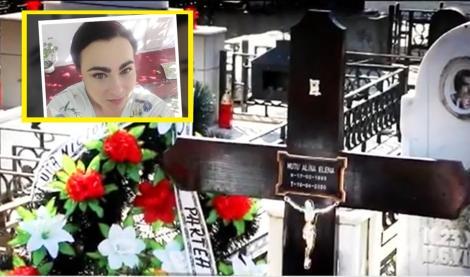 """Părinții Alinei, fata de 27 de ani ucisă de COVID-19, i-au privit sicriul sigilat de la balcon și și-au luat adio! """"Mamă, eu am să mor"""""""