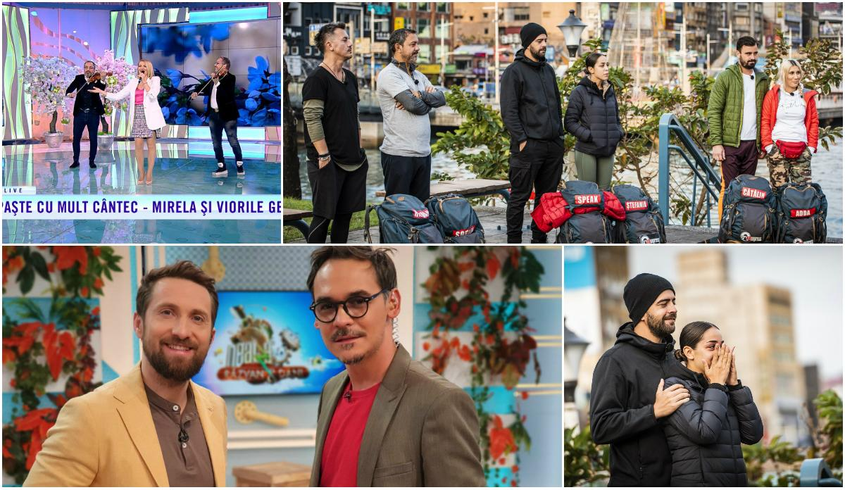 Programele Antenei 1, preferatele românilor şi în a doua zi de Paşte. Antena 1, lider detaşat de piaţã la nivelul întregii zile şi al Prime Time-ului