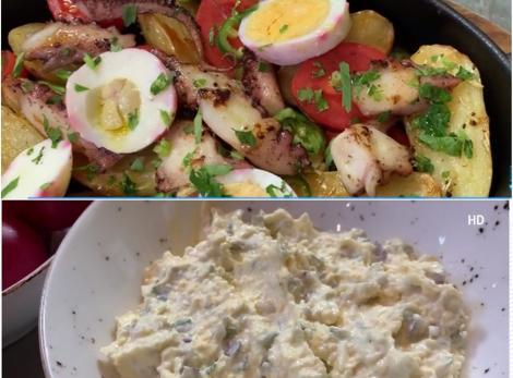 Două rețete de salate aperitiv cu ingredientele rămase după sărbători