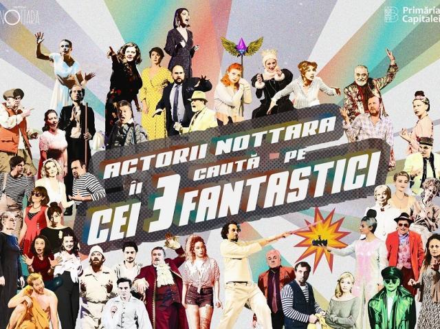 """Actorii Teatrului Nottara Ada Navrot, Adrian Văncică şi Vlad Bălan sunt primii care se vor întâlni online cu spectatorii în cadrul proiectului """"Cei trei fantastici"""""""