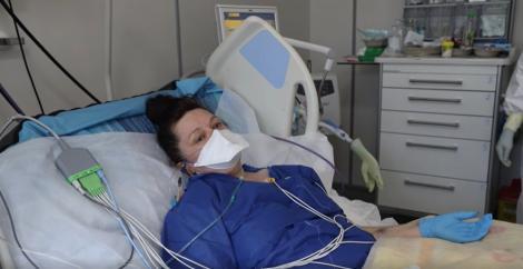 """Mărturisirile cutremurătoare ale unei femei infectate cu noul coronavirus, internată pe secția ATI: """"Simptomele au evoluat nu în ore, ci în minute, în secunde. E o boală foarte grea!"""""""