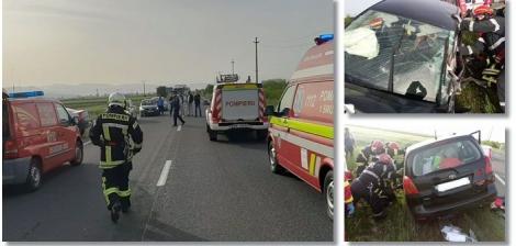 Accidente în lanț, în România, în prima zi de relaxare. Șapte persoane au fost rănite după ce două mașini s-au ciocnit violent