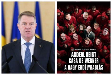 """""""Planulde furat Ardealul"""". Klaus Iohannis, ironizat de ungurii din România, pe Facebook! S-au inspirat din """"Fabrica de bani""""!"""
