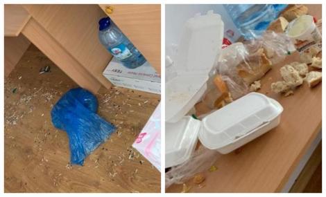 """Imagini scandaloase! Dezastru total în centrele de carantină! """"Nu se poate să distrugi mobilier, să scoți prize din pereți"""" - FOTO"""