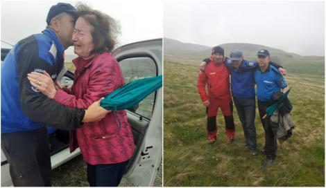 Momente emoționante pe Transalpina. Un bărbat de 80 de ani a fost găsit, în viață, după ore în șir de căutări pe ploaie torențială și vijelii