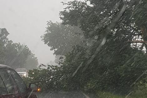 Ploi torențiale, vijelii și grindină, în următoarele zile, în toată țara. Meteorologii au prelungit codul galben de vreme rea