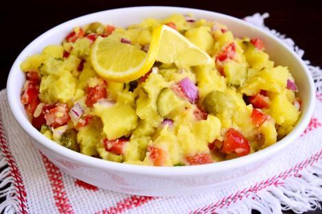 Salată orientală de post cu maioneză de muștar