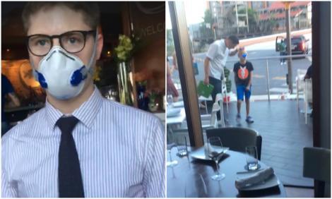 """Un copil și mama lui au fost dați afară din restaurant, din cauza tricoului pe care îl purta puștiul. Detaliul revoltător sesizat de femeie: """"Care este diferența?!"""""""