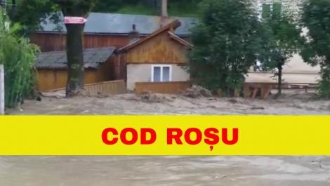 România este amenințată de inundații! Cod ROȘU de viituri în două județe din țară