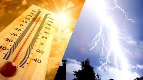 Alertă! Cod portocaliu de ploi, în țară! Unde va fi potop și unde va lovi canicula, în următoarele zile