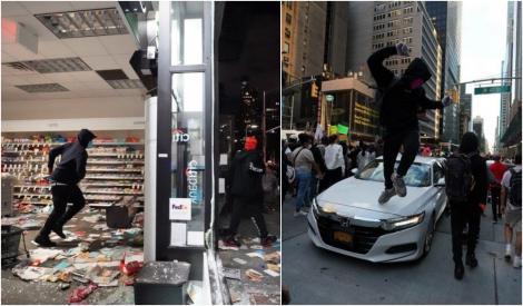 FOTO | Imagini cu dezastrul din Minneapolis. Magazinele sunt vadalizate, au loc furturi în masă și explozii puternice