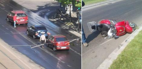 """Accidente în lanț în București, după ce străzile au fost spălate cu o """"substanță alunecoasă"""". Șoferii, avertismente pe internet: """"Mare atenție în această zonă!"""""""