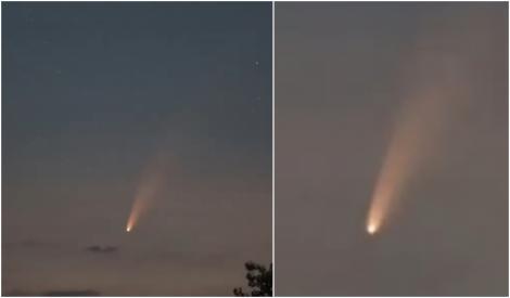 VIDEO   Fenomen spectaculos pe cerul României. O cometă poate fi văzută cu ochiul liber