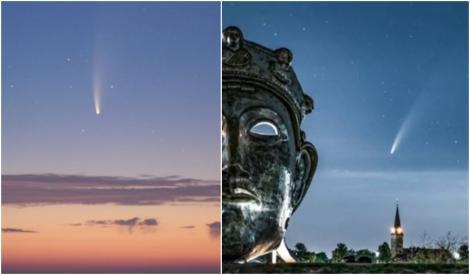 VIDEO   Spectacol pe cer! Cea mai strălucitoare cometă va putea fi admirată pe cer cu ochiul liber. Aceasta va mai fi vizibilă abia peste șapte mii de ani