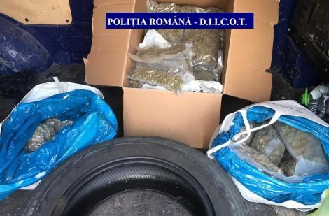 Şapte persoane, reţinute pentru trafic de droguri, în urma unor percheziţii făcute de poliţişti şi procurori DIICOT în judeţele Cluj şi Maramureş
