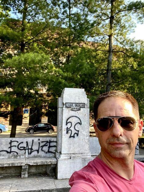 """Dan Negru, revoltat de dispariția unei statui cunoscute din Timișoara: """"Noi furăm statui. Nu le dărâmăm"""""""