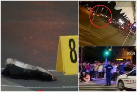 VIDEO | Accident grav în Capitală. Un motor și o mașină s-au izbit violent și au ricoșat în pietoni. Trei persoane au ajuns în stare teribilă la spital