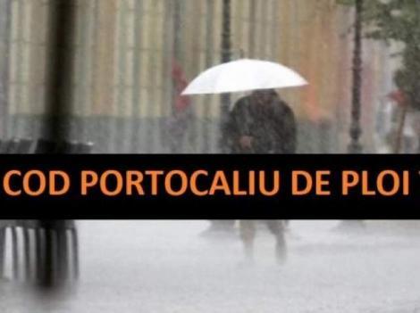 Potop, în România! Cod portocaliu și cod galben de ploi puternice! Zonele afectate, în următoarele ore