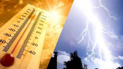 Alertă! Cod galben de ploi torențiale și furtuni extins în România! Unde va ploua și unde va fi căldură sufocantă, în următoarele zile