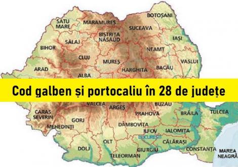 ALERTĂ meteo pentru 28 județe! Vremea o ia razna de sâmbătă, 25 iulie! Ce fenomene anunță specialiștii