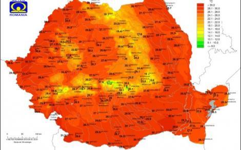 Căldură sufocantă în Capitală și alte 21 de județe. ANM a emis cod de caniculă, valabil până joi